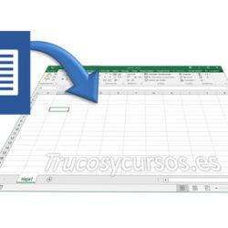 Importar texto de Word a la hoja Excel