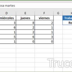 Buscar en filas y columnas de Excel por nombre