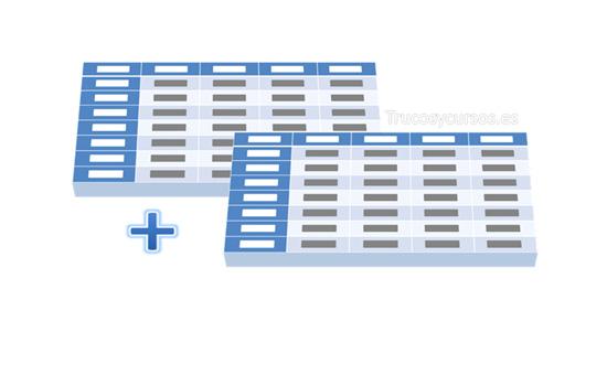 Combinar datos de dos o más tablas en Excel