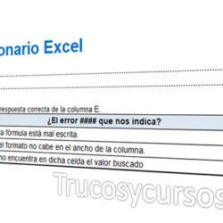 Realiza un test o cuestionario en Excel