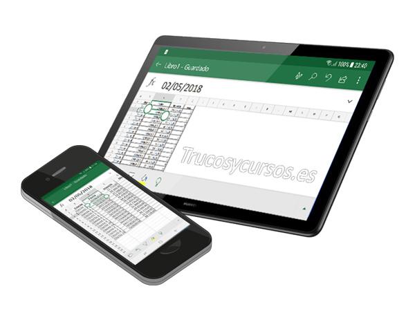 Gestos táctiles de Excel Mobile para Windows