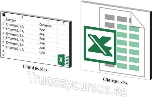 Mostrar la vista previa miniatura de los libros Excel en Windows