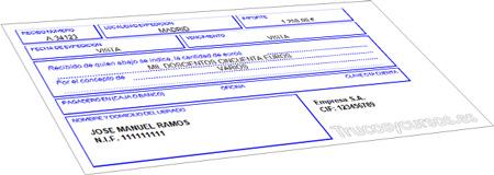 Plantilla recibo en Excel