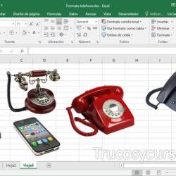 Todos los Formatos para el número de teléfono en Excel