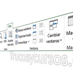 La pestaña vista de Excel
