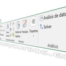 La pestaña de datos de Excel