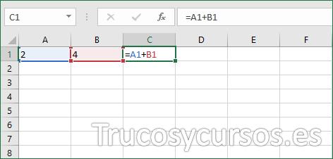 Celda con fórmula sin mostrar cálculos