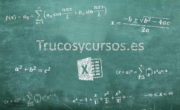 Escribir fórmulas complejas en Excel