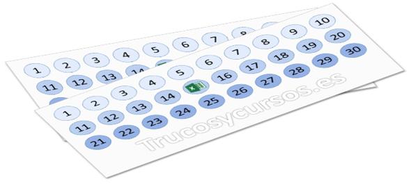 Numerar filas y columnas automáticamente en Excel
