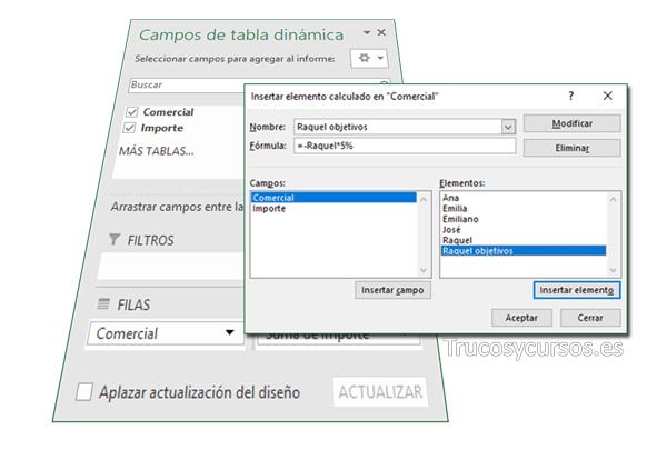 Las Opciones De Tabla Dinámica En Excel Trucos Y Cursos De Excel