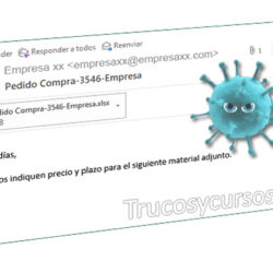 Email con malware de falso presupuesto en Excel