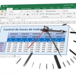 Plantilla control de horas de los trabajadores en Excel