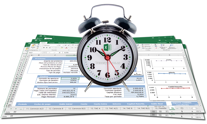 Tu despertador en Excel