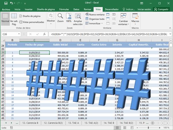 El error ##### en Excel