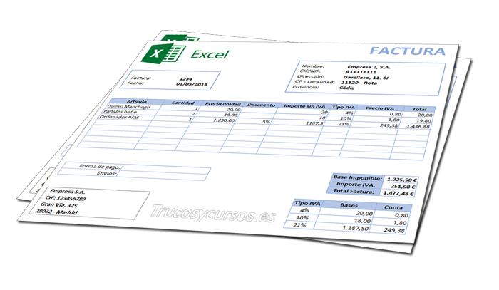 Factura automática paso a paso en Excel