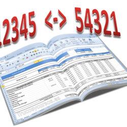 Invierte los dígitos de un número Excel