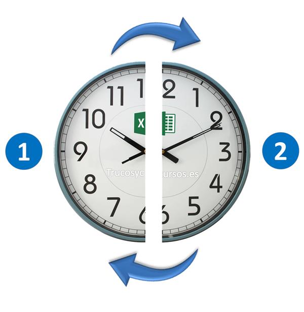 Contar el número de intervalos de media hora en Excel