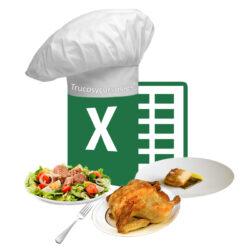 Organiza tus comidas con el menú semanal de Excel