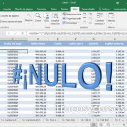 El error #¡NULO! en Excel
