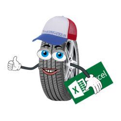 Código de velocidad e índice de carga de tus neumáticos en Excel