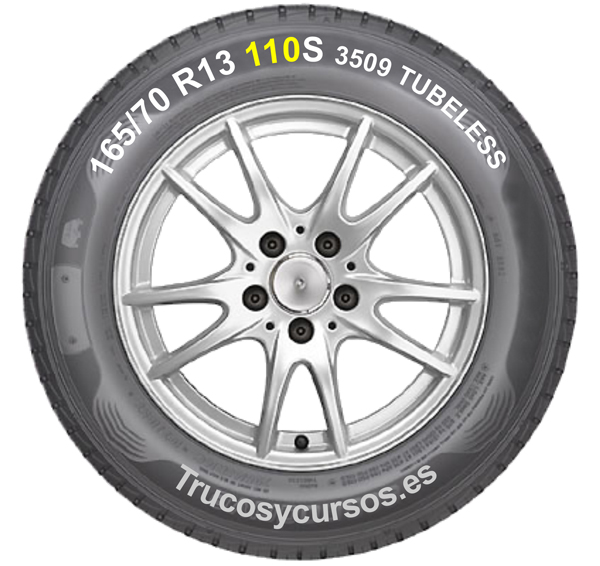Neumático con la identificación del índice de carga