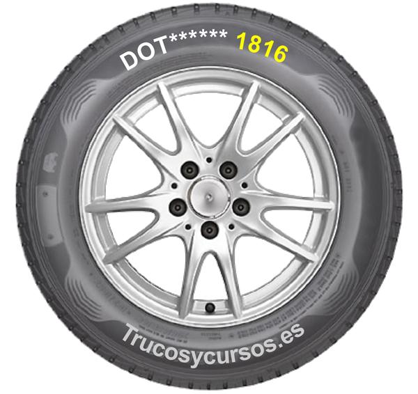 Neumático con identificación de la fecha de fabricación
