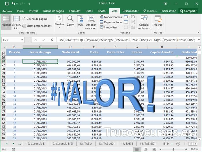 El error #¡VALOR! en Excel