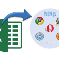 Exportar el libro Excel como página web