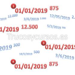 Buscar valor mayor y menor de una fecha, múltiples resultados BUSCARV Excel