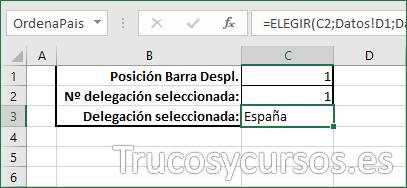 Hoja Excel con las referencias de controles