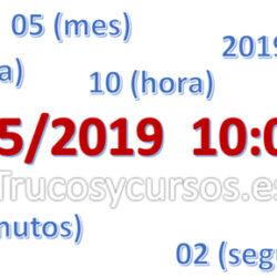 Separar día, mes, año, horas, minutos y segundos de fecha/hora en Excel