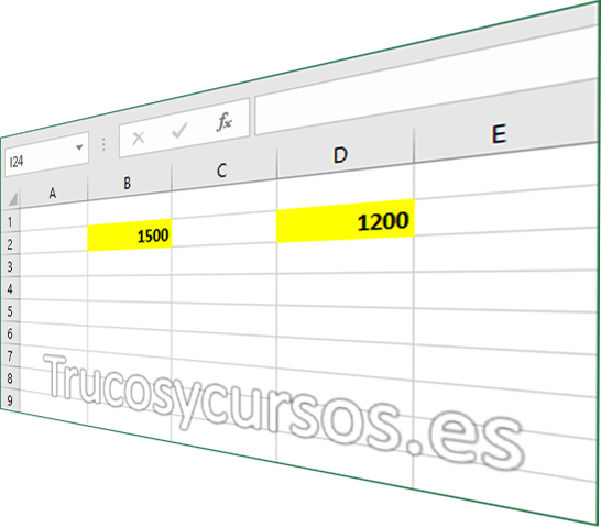 Remarcar con un color las celdas con datos en Excel