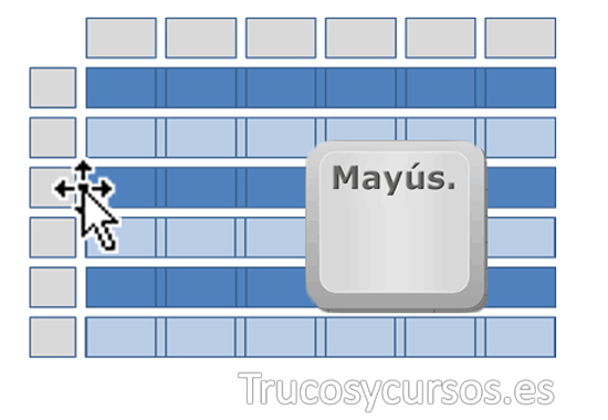 Mover filas y columnas rápidamente en Excel
