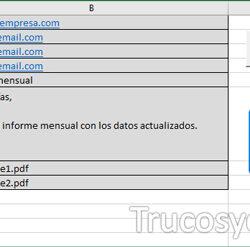 Enviar email desde el correo deseado en Excel