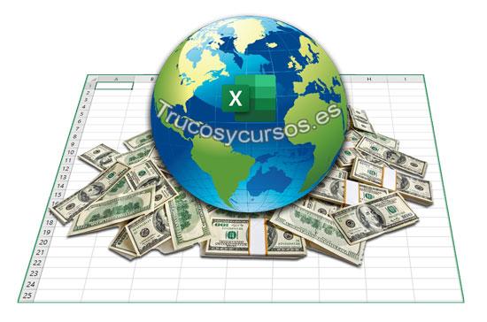 Plantilla conversor de monedas y divisas en Excel