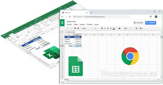 Ver y edita archivos de Excel en Hojas de cálculo de Google