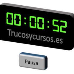 Inserta un cronómetro con pausa en Excel
