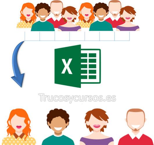 Valores únicos sin duplicados de columna Excel