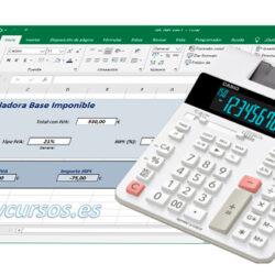 Calcula el importe sin IVA e IRPF desde el total en Excel