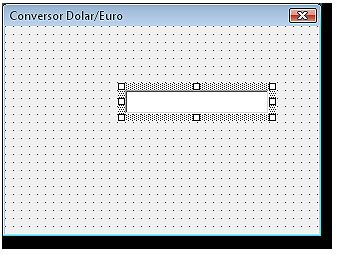 Formulario con el control cuadro de texto, donde escribiremos el nombre del cliente