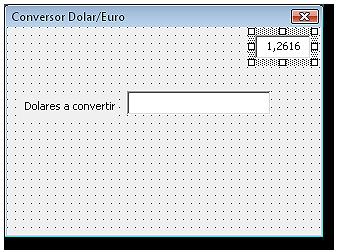 Formulario con el control cuadro de texto para la tasa