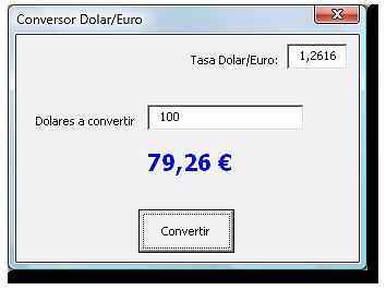 Formulario según se muestra en la hoja Excel