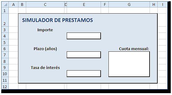 Formulario con rótulos para los datos