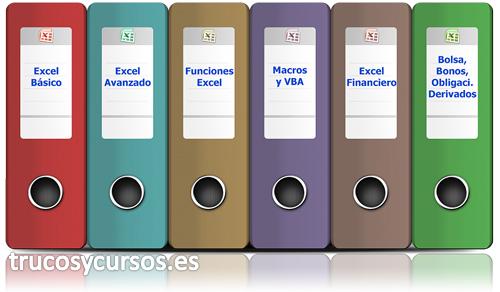 Temarios de los cursos de Excel