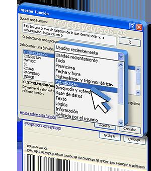 Las funciones en Visual Basic Excel